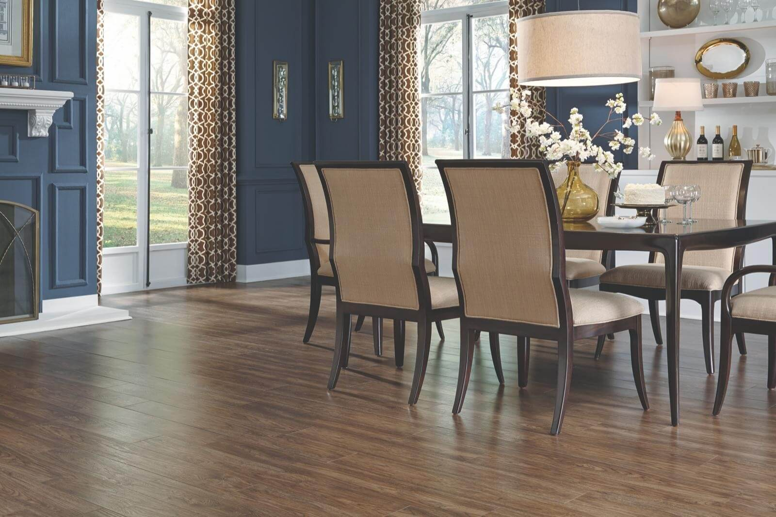 Luxury Vinyl Plank Flooring Makes a Grand Entrance
